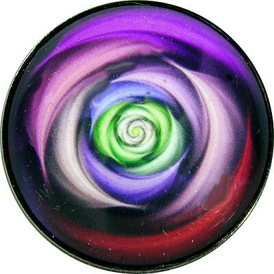 """FREE US SHIPPING Gorgeous 1/"""" Crystal Dome Button Mystical Spiral #6"""
