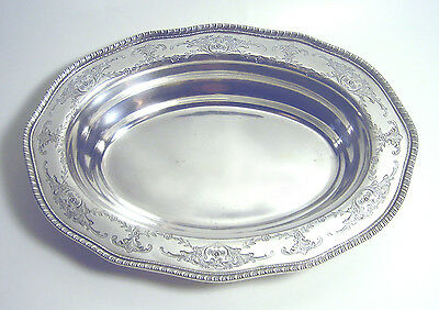 "ANTIQUE 40's FRANK WHITING Sterling 925 Georgian 10 3/4"" SERVING BOWL 14.5 oz"