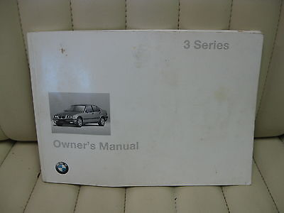 1997 BMW 3 Series Car Owners Instruction Book Glove Box Manual