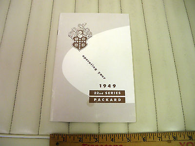 1949 PACKARD Car Owners Instruction Manual NOS