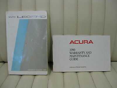 1989 Acura Legend Car Owners Instruction Book Glove Box Manual