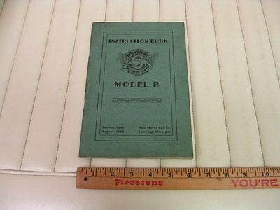 1928 REO Wolverine Model B Car Owners Instruction Manual