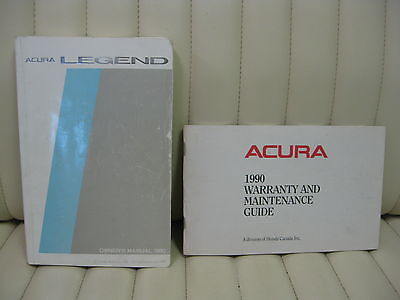 1990 Acura Legend Car Owners Instruction Book Glove Box Manual