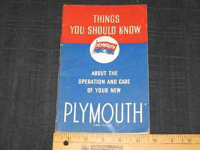 1937 Plymouth Code P3 & P4 Owner's Manual