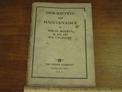 1933 - 1934 White  6 Cyl Model 631 Truck Owner's Manual