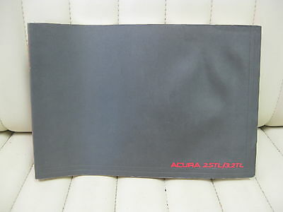 1996 Acura 2.5 TL / 3.2 TL Car Owners Instruction Book Glove Box Manual