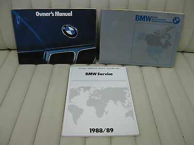 1989 BMW 525 535 Series Car Owners Instruction Book Glove Box Manual