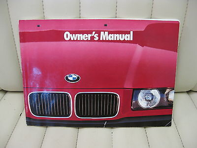1992 BMW 3 Series Car Owners Instruction Book Glove Box Manual