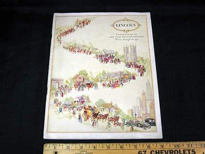 "1926 1927 Lincoln Salon Car ""Travelogue"" Prestige Car Sales Brochure NICE"