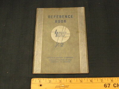 1936 LINCOLN Zephyr V12 Owners Instruction Manual