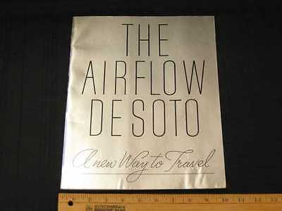 1934 DESOTO AIRFLOW Car Prestige Sales Brochure RARE