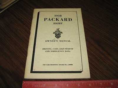 1938 Packard Eight Owner's Instruction Manual