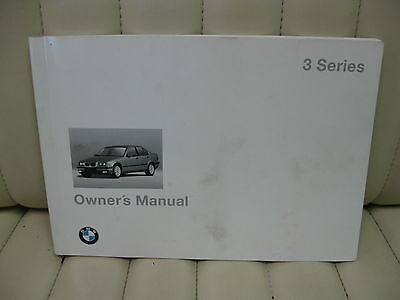 1994 BMW 3 Series Car Owners Instruction Book Glove Box Manual