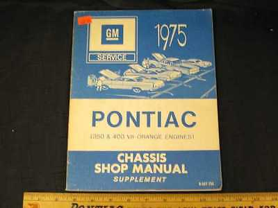 1975 Pontiac Chassis Supplement Shop Manual (CDN)