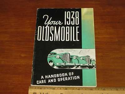 1938 Oldsmobile Six &  Eight Owner's Manual