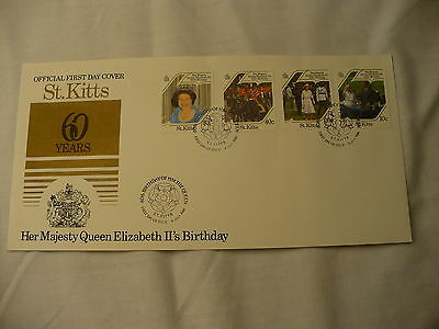 First Day cover St  Kitts Queen Elizabeth 60th birthday 1rst day issue P38