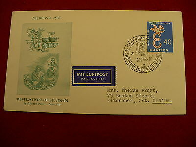Medieval art German  First Day Cover FDC Christkindles market 1958 P46
