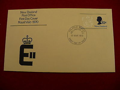 First Day Cover FDC 1rst day issue 1970 New Zealand Royal Visit Wellington P58