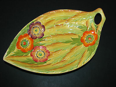 Beautiful Art Deco Era Vintage Carlton Ware Anemone Flower Design Dish Bowl