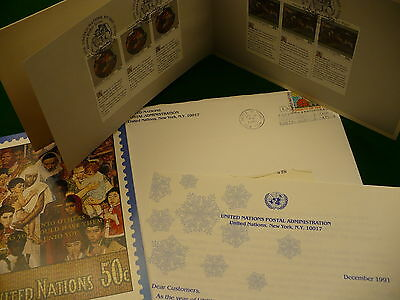 United Nations 1991 USA Postal administration booklet stamps covers P63