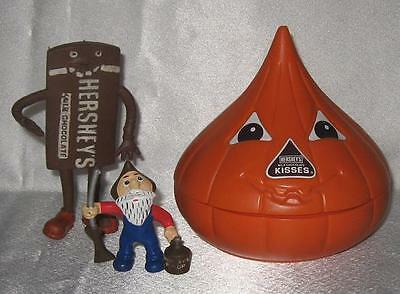 Hershey PVC Figure Bendie and Plastic Candy Dish with Lid Hershey Food Company