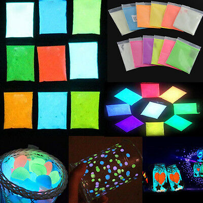Fluorescent Super Bright Glow in the Dark Luminous Powder Glow Pigment Party DIY