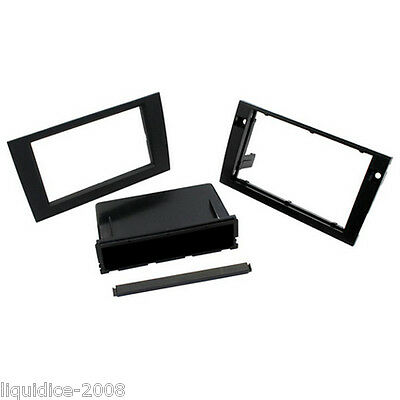 CT24AU27 AUDI A4 B6/B7 2001 to 2008 ANTHRACITE DOUBLE DIN FASCIA ADAPTER PANEL