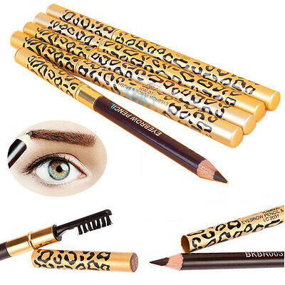 Imperméable Maquillage Léopard Durable Eyeliner Marron Crayon à Sourcils Etanche