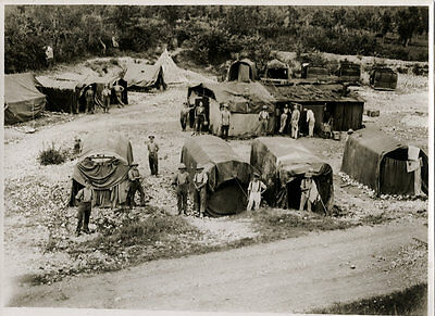 World War One Ww1 Original Photo - Using Tops Of Old Lorries As Billets Italy