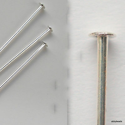 500 Headpins Silver plated 0.8 mm thick semi hard top quality pin.