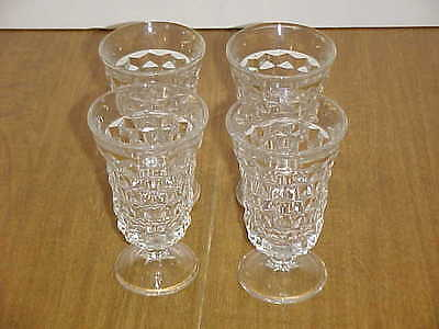 American Fostoria Crystal Footed Low Goblet Set