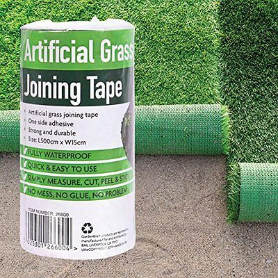 Artificial Grass Joining Tape Self Adhesive Waterproof Fixing Turf Tape 5m x15cm