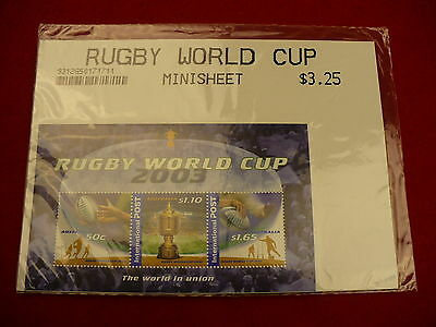 Rugby World cup 2003 Australia mini stamp postage sheet clean P206