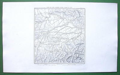 1859 ANTIQUE MAP - Germany Austria between Munich Salzburg & Regensburg