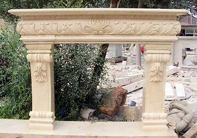 Traditional Tuscan Style Marble Fireplace Mantel, Elegant #3765