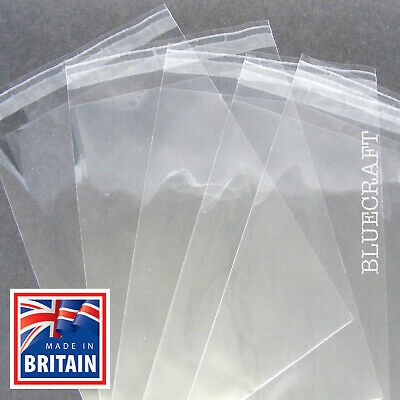 A3 & A4 Cello Bags for Greeting Cards Cellophane Peel & Seal - POSTED FLAT