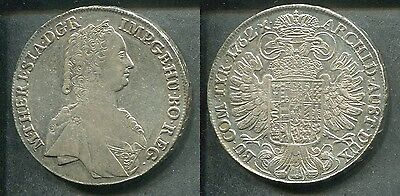 RDR HABSBURG 1762 HALL - 1 Taler in Silber, ss/vz - MARIA THERESIA -RAR!