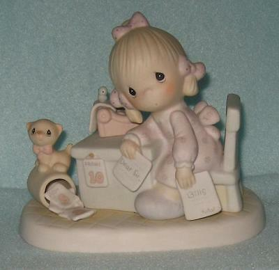 1982 Precious Moments Praise The Lord Anyhow Candle Mark