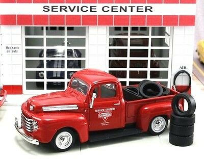 """New In Box  1/43 1948 FORD F-1 PICK UP  Truck """"Conoco"""" with 10 Tires"""