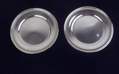 S KIRk & Son Sterling Silver Appetizer Bread and Butter Plates Set of 2
