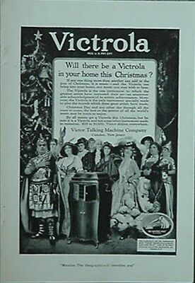 "1920 Victrola Talking Machine Company Ad (Enrico Caruso + ""his Master's Voice"""