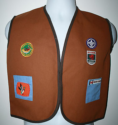 SCOUTS CANADA BEAVERS BC Yukon Fraser Valley Region Vest Boys Uniform sz Medium