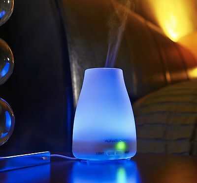 Auraglow Colour Changing Aromatherapy Essential Oil Diffuser Mist Air Humidifier