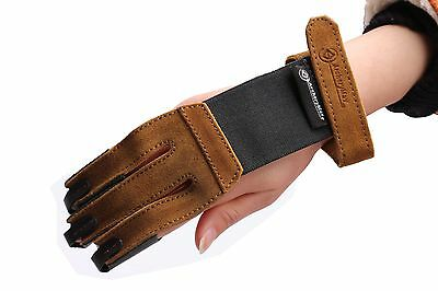 ArcheryMax Hand Made TRADITIONAL Fine Suede Gloves Archery Protective Finger
