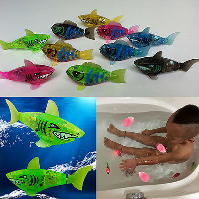 New Baby Bath Toys Kids Activated Battery Powered Robot Shark Fish Cute Toy Gift