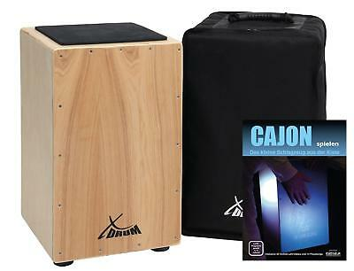 Xdrum Cajon Percussion Trommelkiste Gigbag Noten Download Für Playalongs Natur