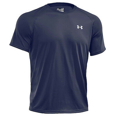 Under Armour Tech Shortsleeve T-Shirt Tee Midnight Navy 1228539-410 Sport