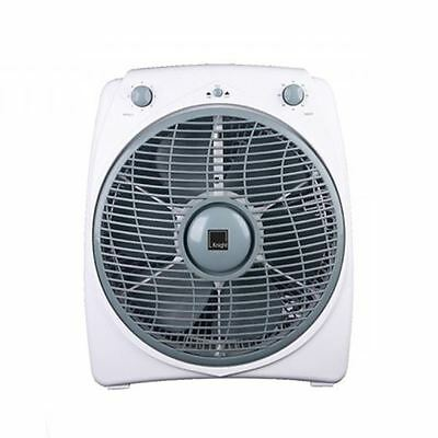 "12"" Oscillating 6 Blades 3 Speed Box Fan Floor Standing With 120 Minutes Timer"