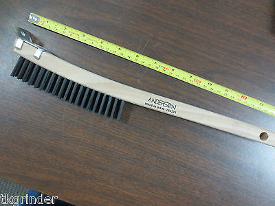 """SS Anderson 34405 6/"""" Scratch Brush 1 x 17 Row Shoe Handle"""