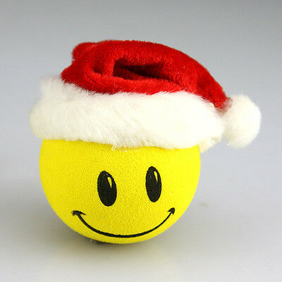 Cute Smile Christmas gift Antenna Ball Car Aerial Ball Antenna Topper Decor Ball